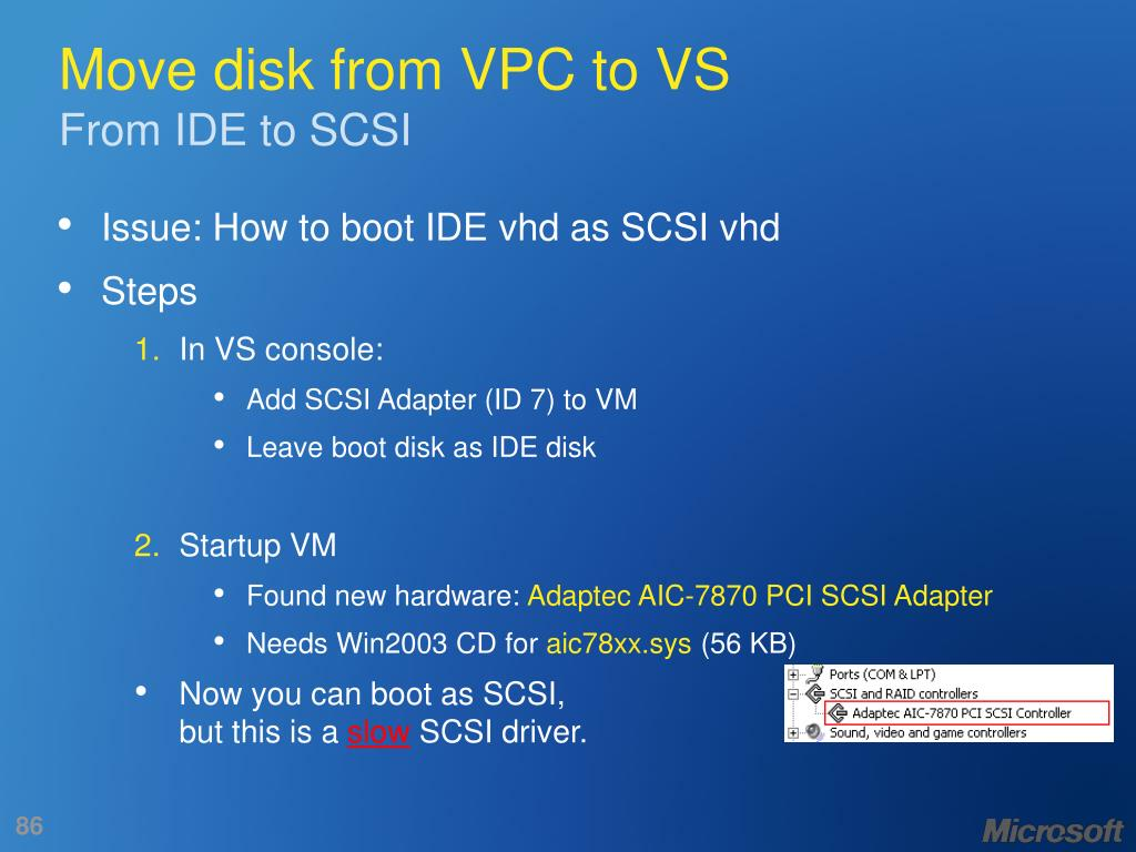 Move disk from VPC to VS