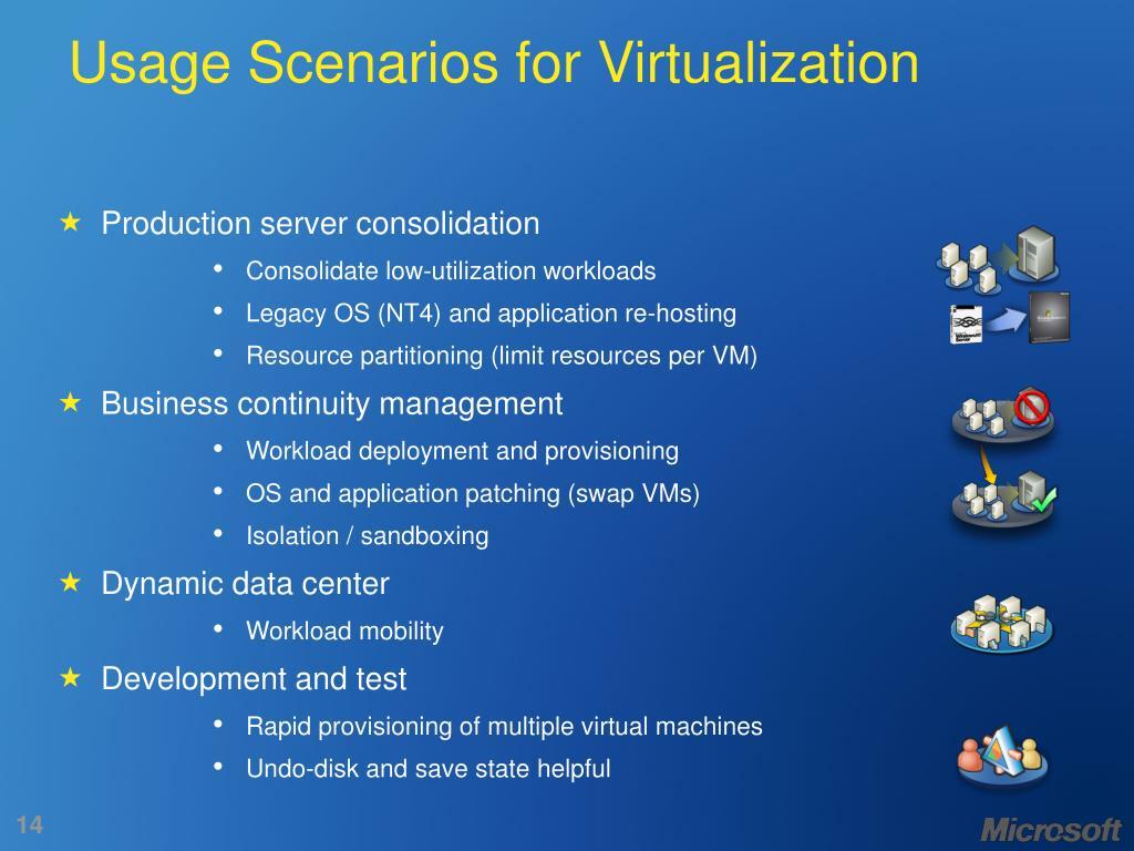 Usage Scenarios for Virtualization