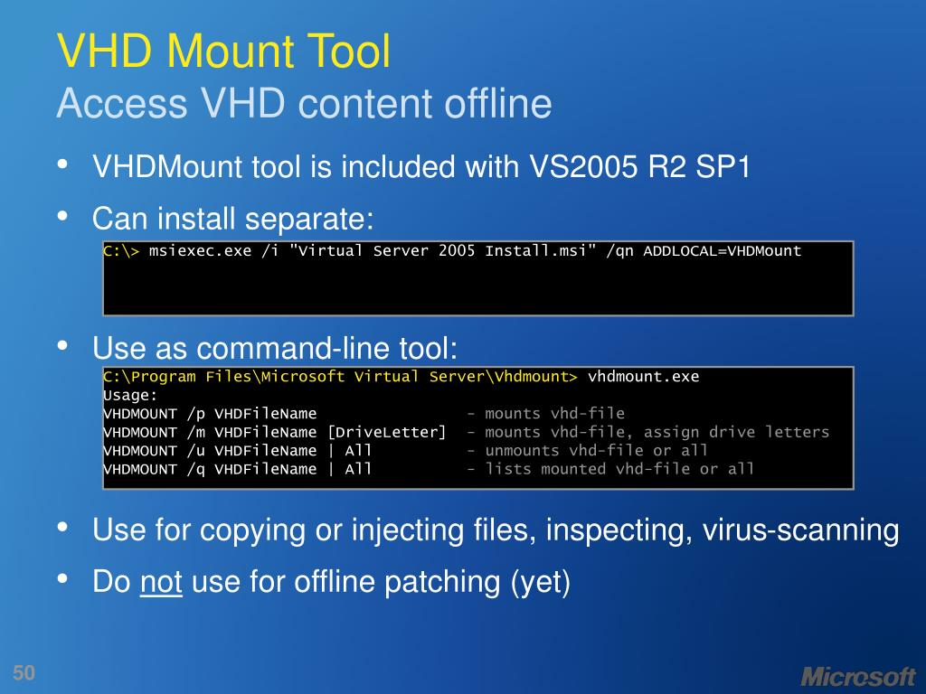 VHD Mount Tool