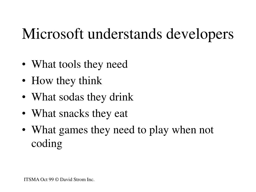 Microsoft understands developers