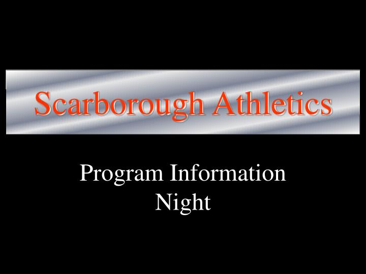Scarborough athletics