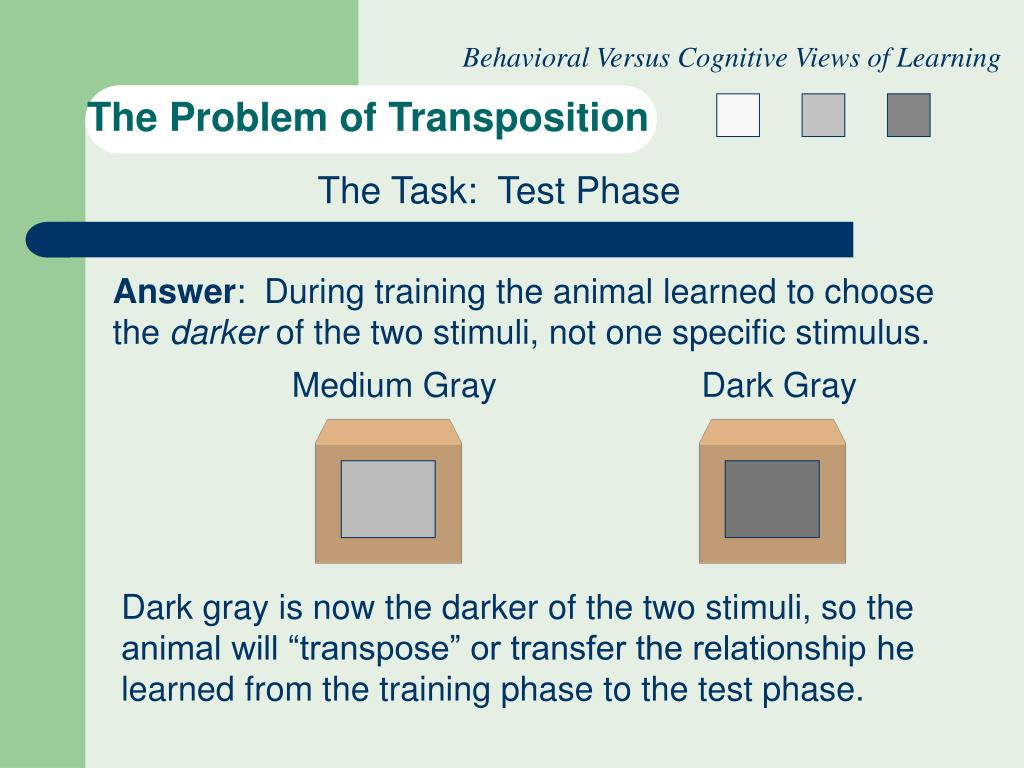 Behavioral Versus Cognitive Views of Learning