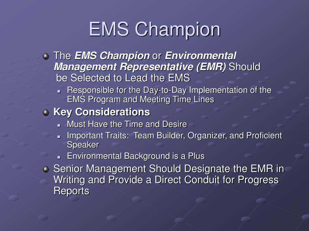 EMS Champion