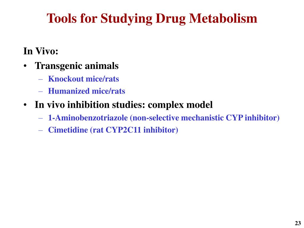 Tools for Studying Drug Metabolism