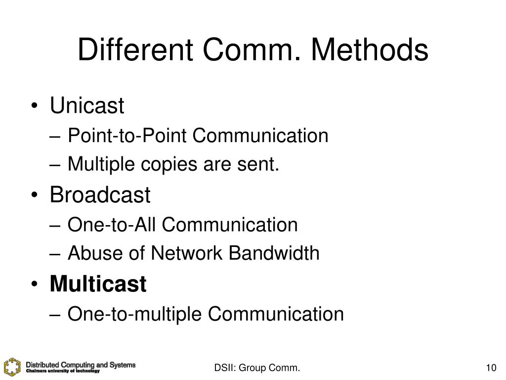 Different Comm. Methods