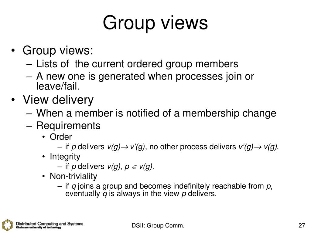 Group views