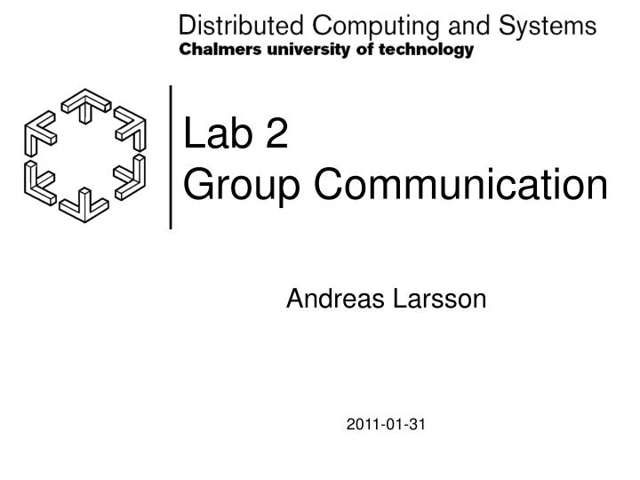 Lab 2 group communication