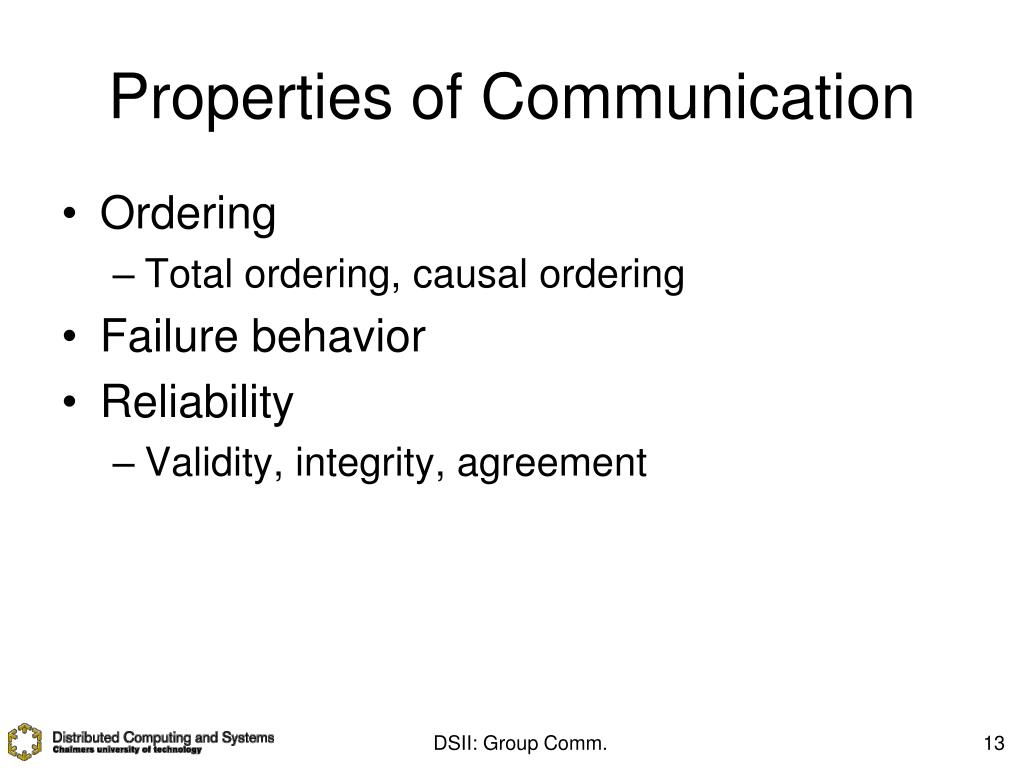 Properties of Communication