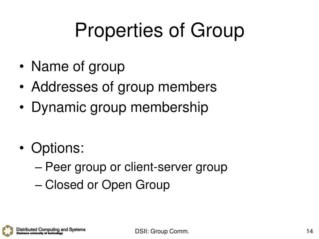 Properties of Group