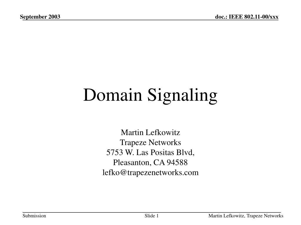 Domain Signaling