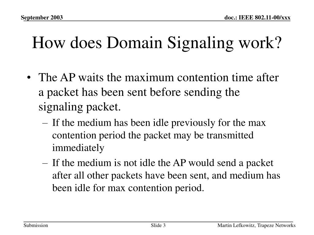 How does Domain Signaling work?
