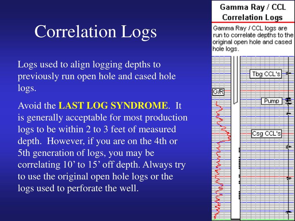 Correlation Logs