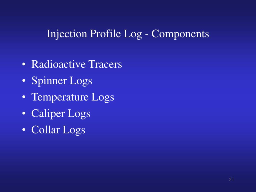 Injection Profile Log - Components
