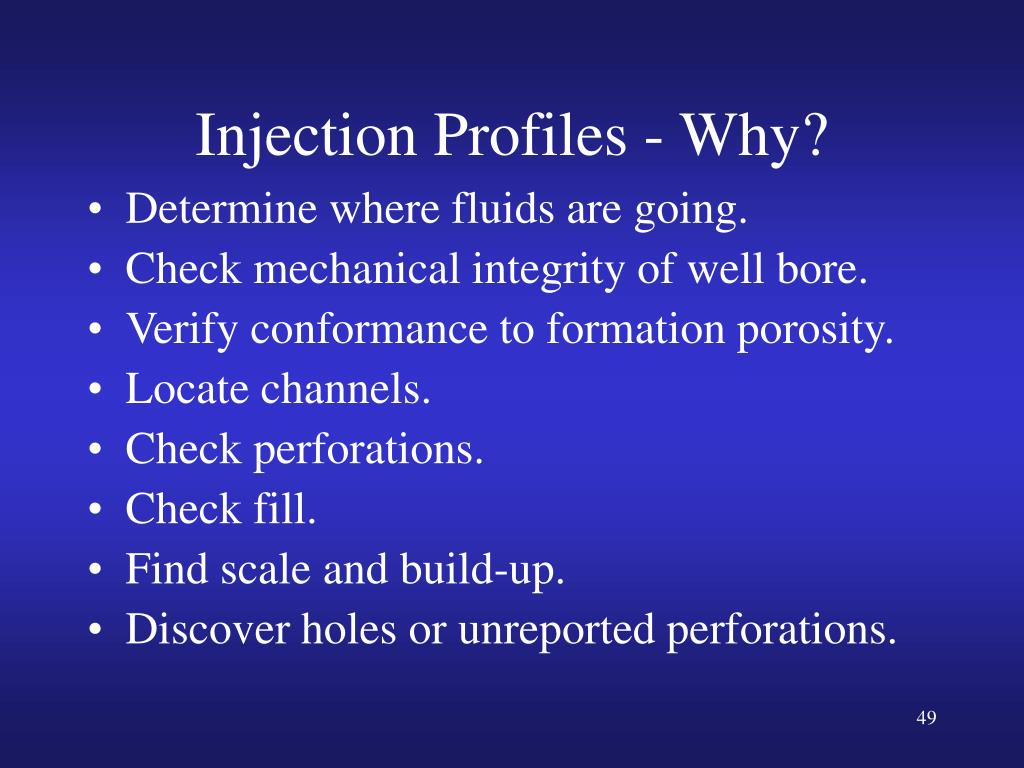 Injection Profiles - Why?
