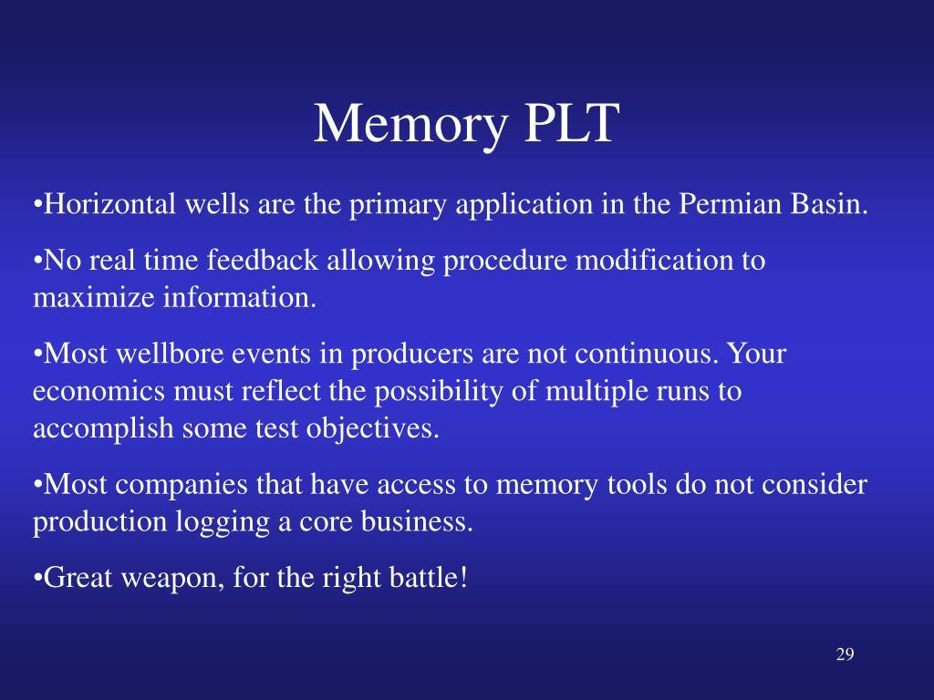 Memory PLT