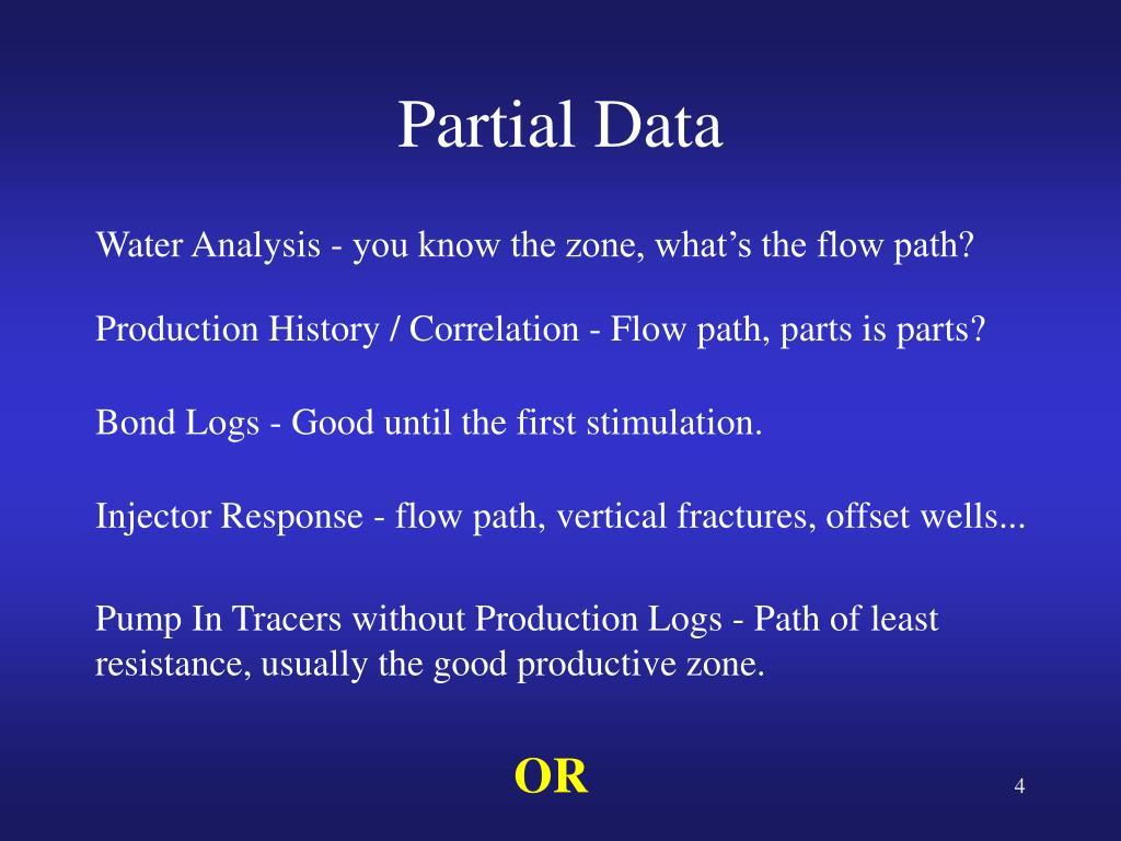 Partial Data