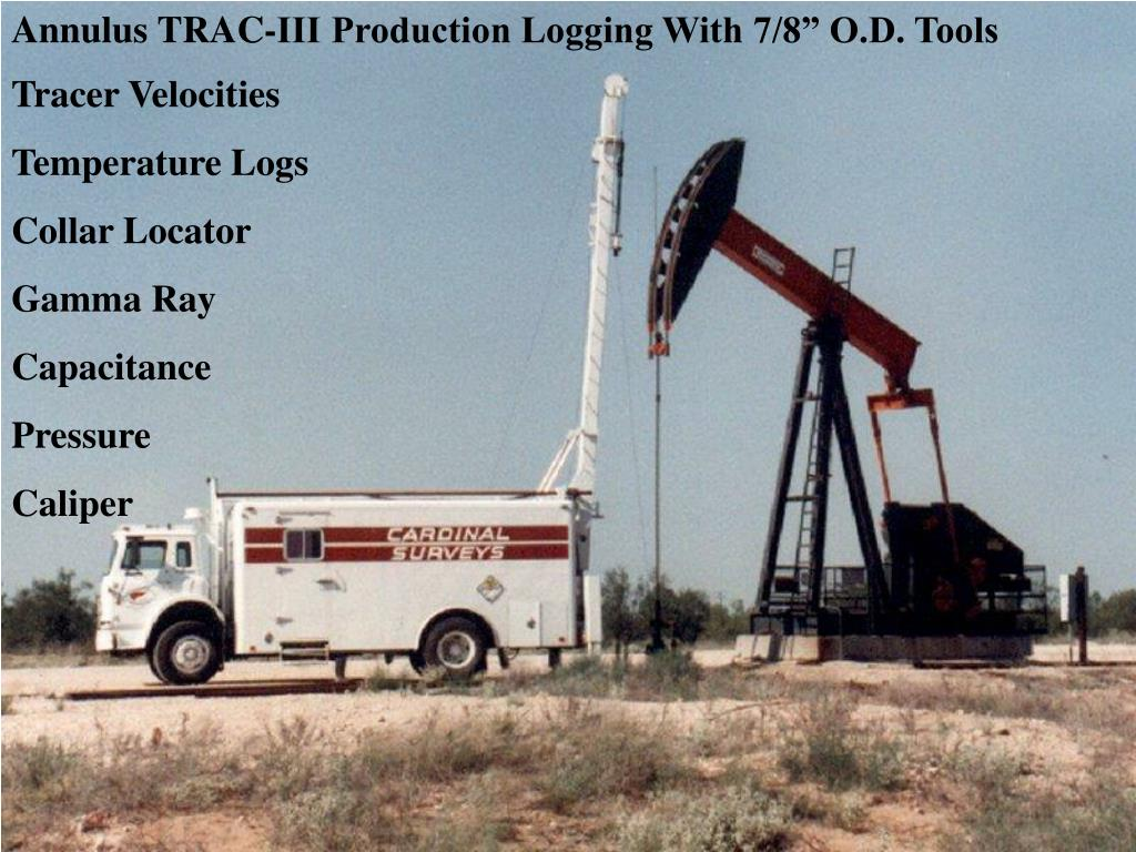 "Annulus TRAC-III Production Logging With 7/8"" O.D. Tools"