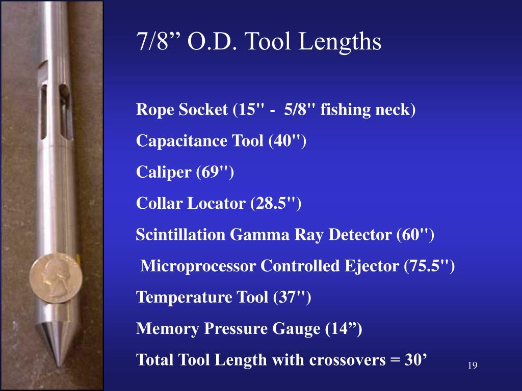 """7/8"""" O.D. Tool Lengths"""
