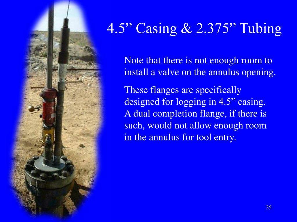 """4.5"""" Casing & 2.375"""" Tubing"""