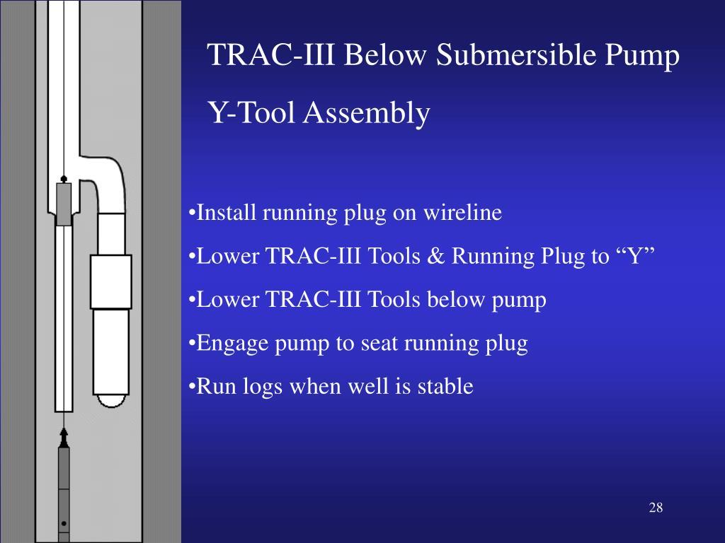 TRAC-III Below Submersible Pump