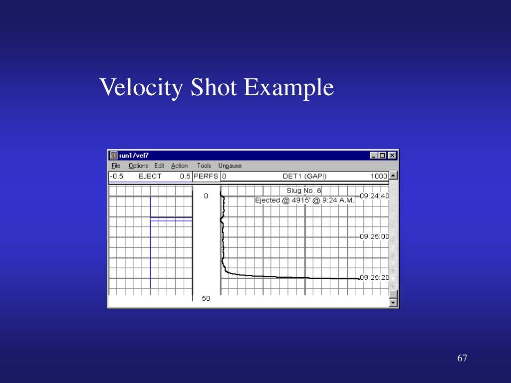 Velocity Shot Example