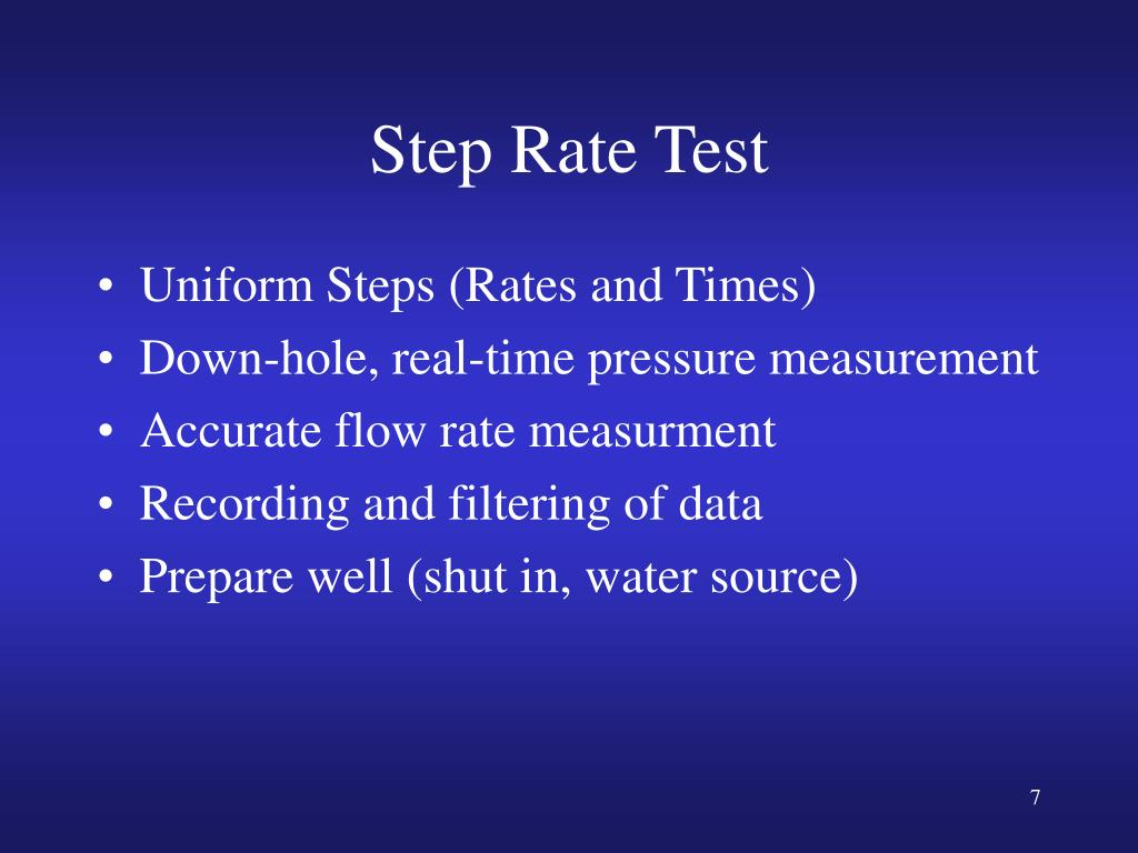 Step Rate Test