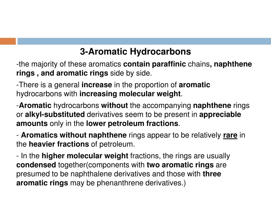 3-Aromatic Hydrocarbons