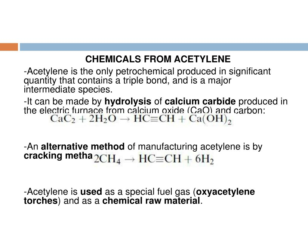 CHEMICALS FROM ACETYLENE