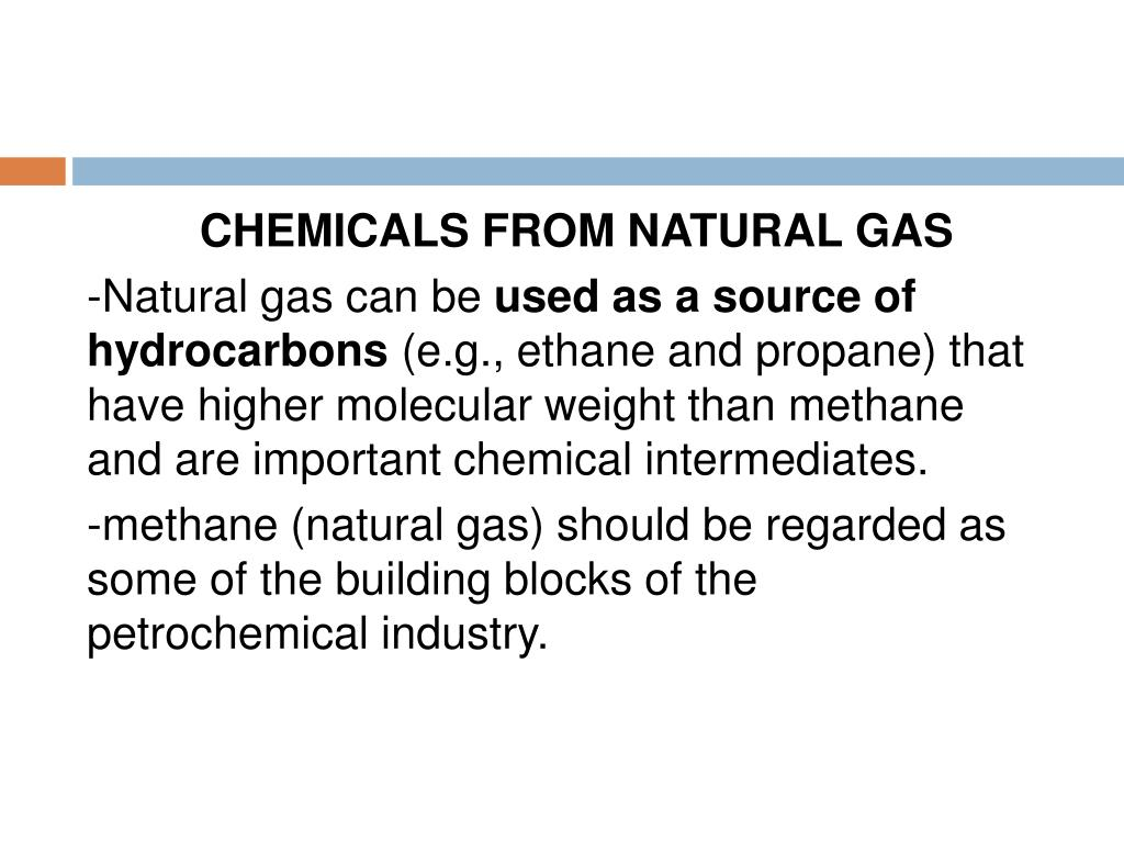 CHEMICALS FROM NATURAL GAS