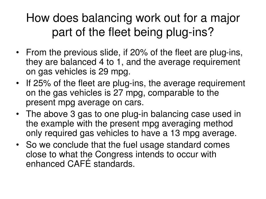 How does balancing work out for a major part of the fleet being plug-ins?