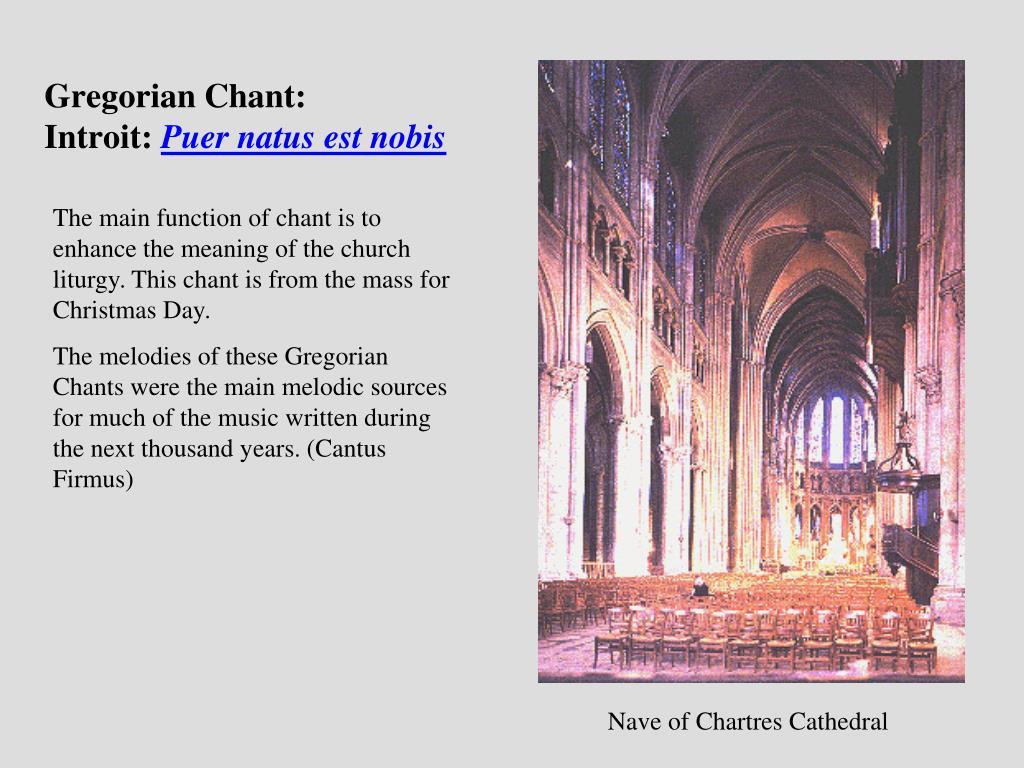 History of Chant