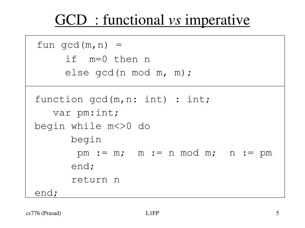 GCD  : functional
