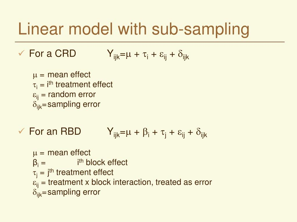 Linear model with sub-sampling