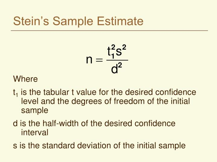 Stein s sample estimate l.jpg