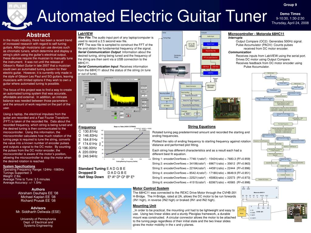 automated electric guitar tuner