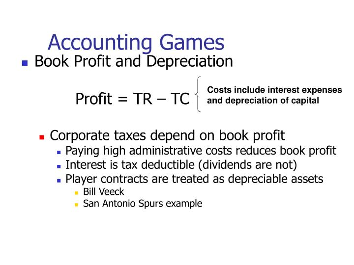Accounting Games