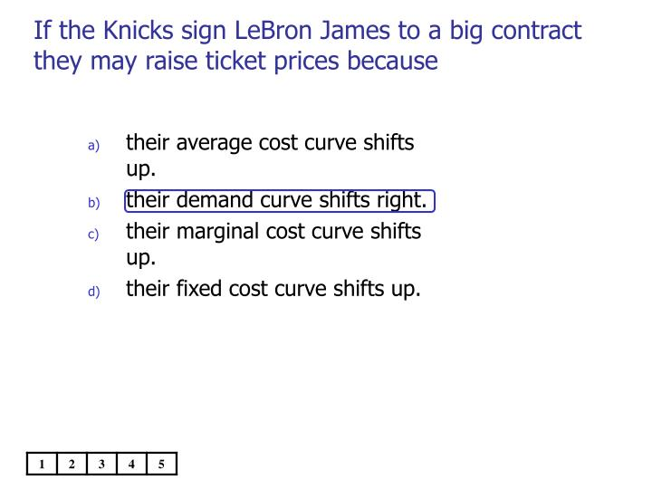 If the Knicks sign LeBron James to a big contract they may raise ticket prices because