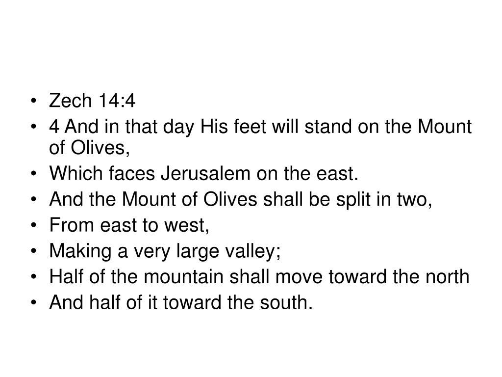 Zech 14:4