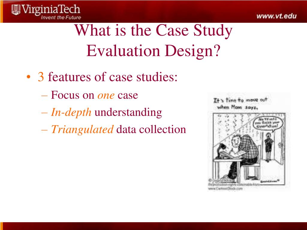 case study evaluation Gao presented information on the use of case study evaluations for gao audit and evaluation work, focusing on: (1) the definition of a case study (2) conditions under which a case study is an appropriate evaluation method for gao work and (3) distinguishing a good case study from a poor one.