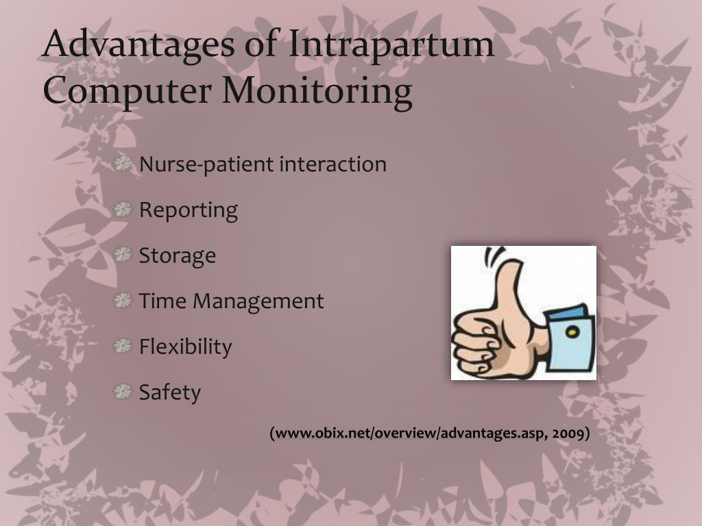 Advantages of Intrapartum Computer Monitoring