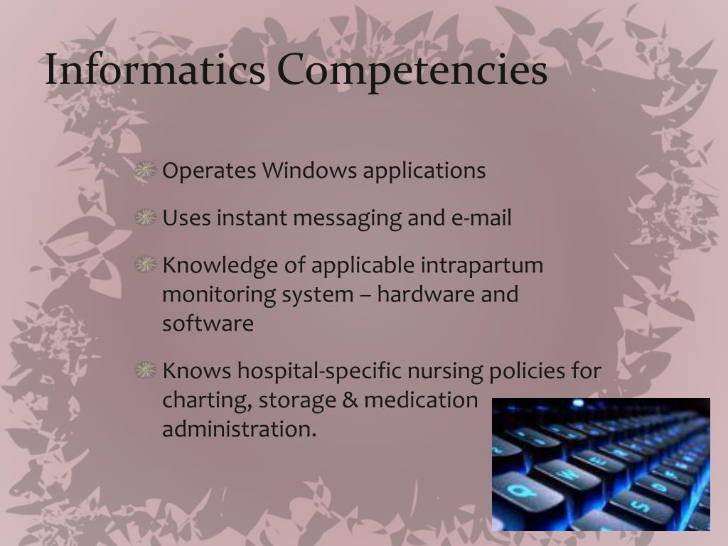 Informatics Competencies
