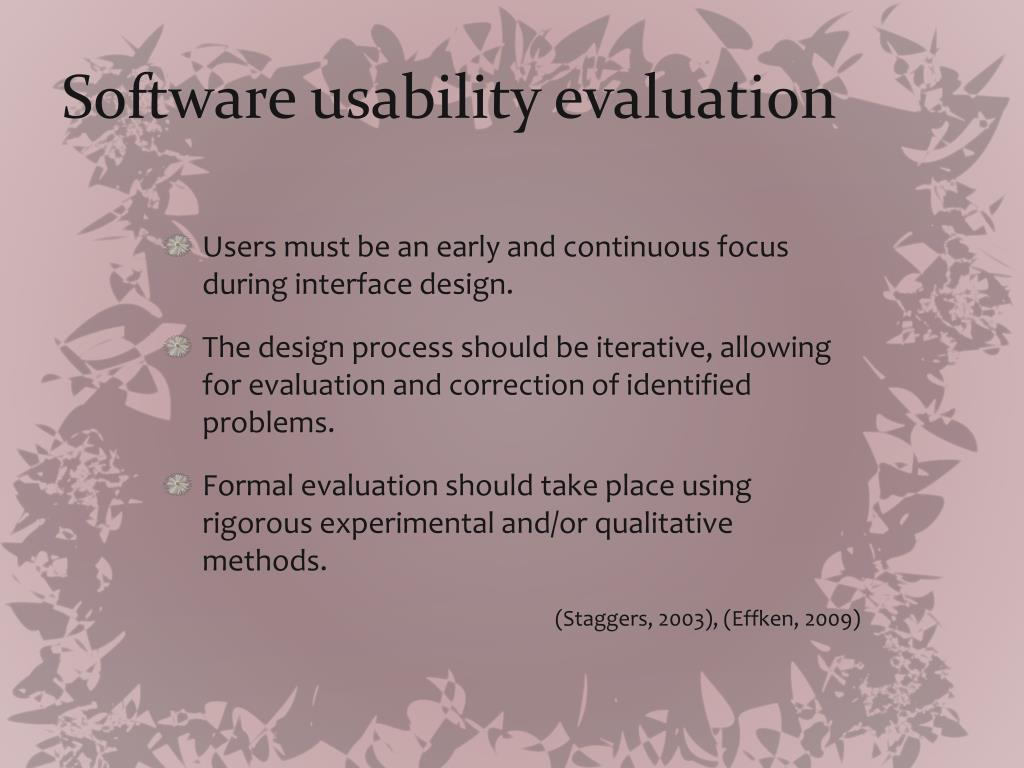 Software usability evaluation