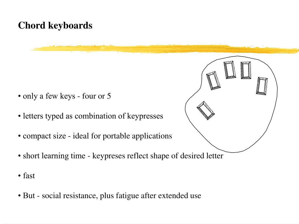 Chord keyboards