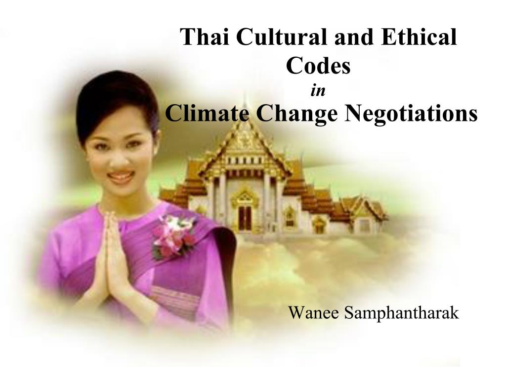 Thai Cultural and Ethical Codes