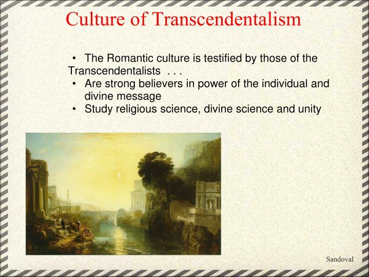 Culture of Transcendentalism