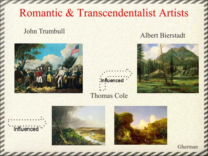 Romantic & Transcendentalist Artists