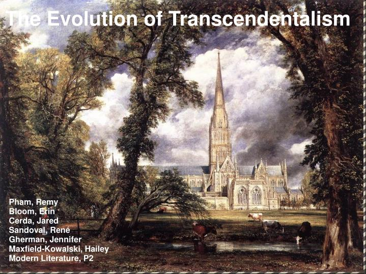 The Evolution of Transcendentalism