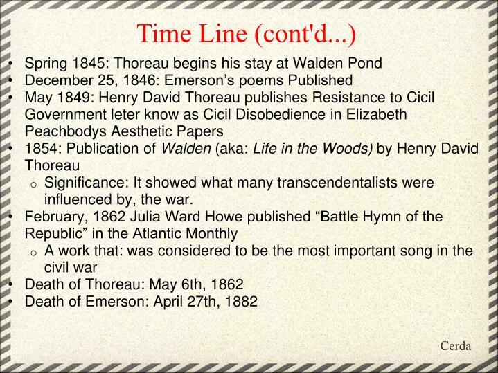 Time Line (cont'd...)