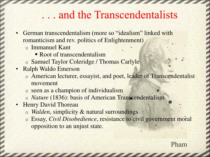 . . . and the Transcendentalists