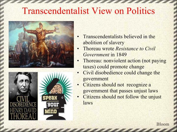 Transcendentalist View on Politics